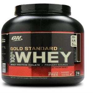 Optimum Nutrition (ON) Gold Standard 100 Whey Protein Powder - 5 lbs